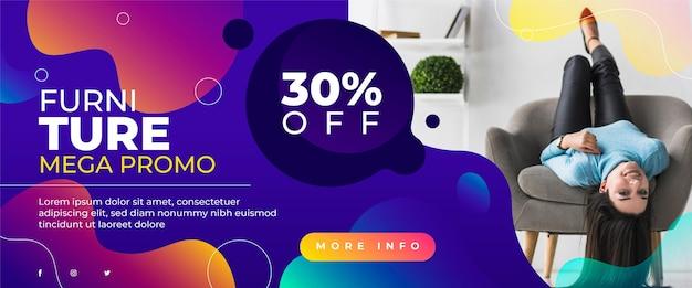 Целевая страница продажи органической плоской мебели с фото