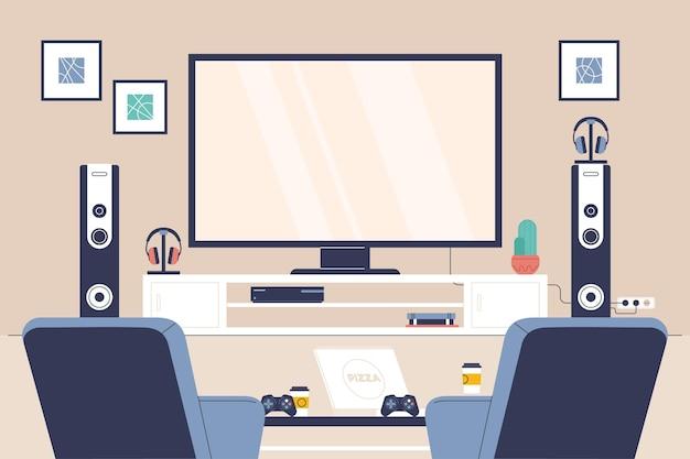 Органическая плоская игровая комната