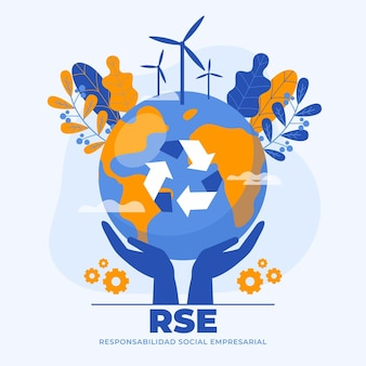 Organic flat illustrated rse concept