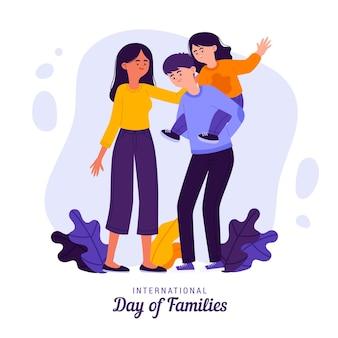 Organic flat international day of families illustration