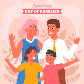 Illustrazione di giornata internazionale piatto organico delle famiglie