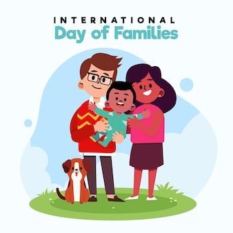 Illustrazione di giornata internazionale piatta organica delle famiglie