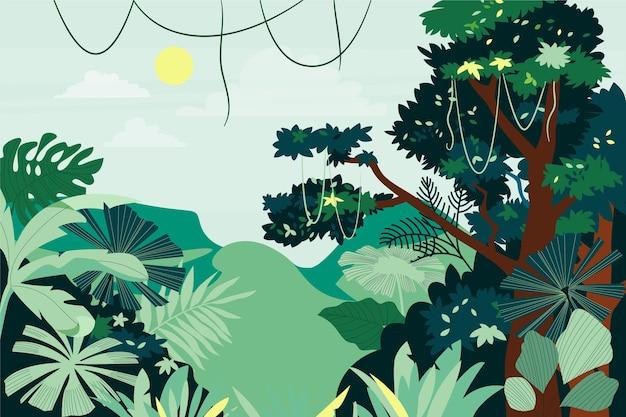 Organic flat jungle background