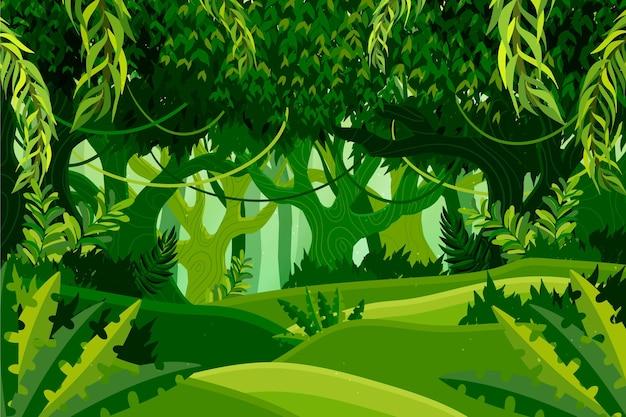 유기 평면 정글 배경