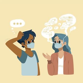 Problema di lettura delle labbra piatto organico dovuto alle maschere per il viso