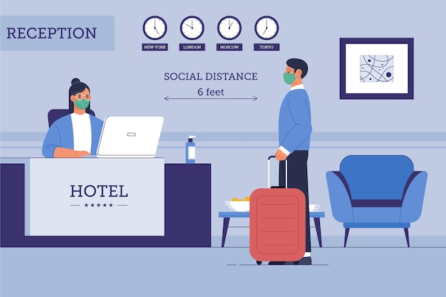 Organic flat new normal in hotels