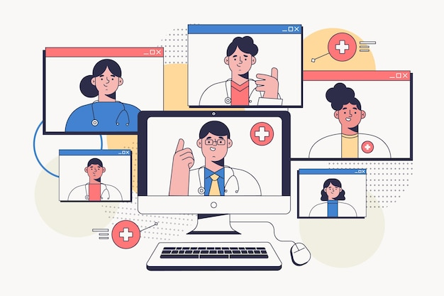 Organic flat online medical conference