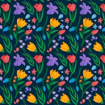 Органические плоские прессованные цветы Бесплатные векторы