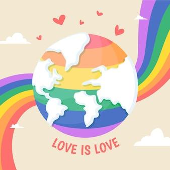Organic flat pride day illustration