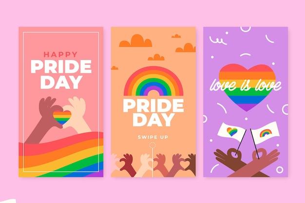 Коллекция историй instagram на день гордости