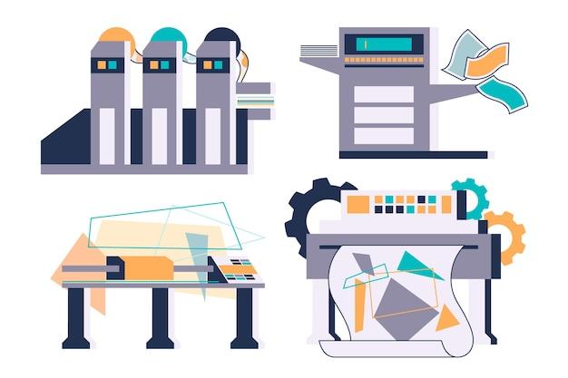 図解された有機フラット印刷業界