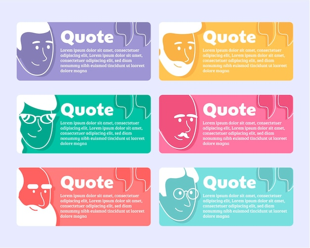 Organic flat quote box frame collection