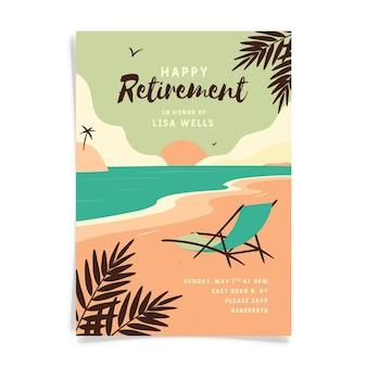 Organic flat retirement greeting card