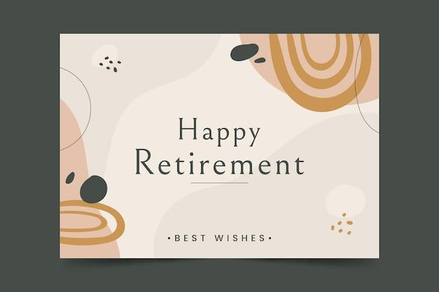 有機フラット退職グリーティングカード