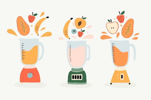 Frullati piatti organici in bicchiere frullatore