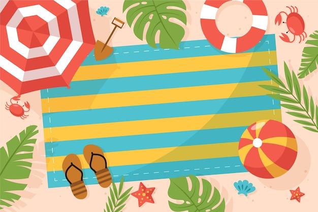 Органический плоский летний фон для видеозвонков