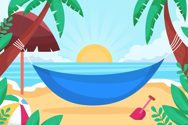 Organic flat summer background for videocalls