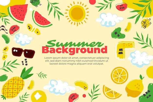 Органический плоский летний фон