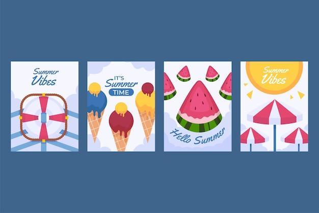 オーガニックフラットサマーカードコレクション