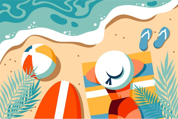 Organic flat summer illustration