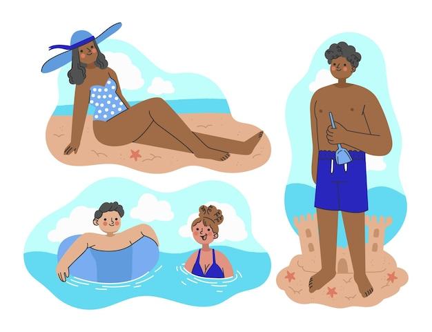 유기 평면 여름 장면 모음