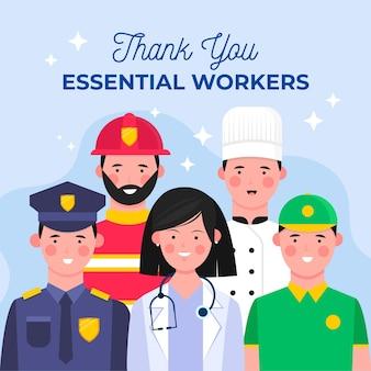 Piatto organico grazie lavoratori essenziali