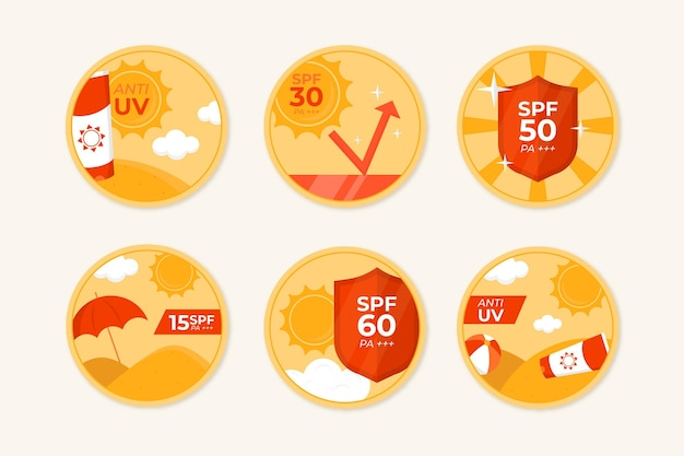 Organic flat uv badges collection