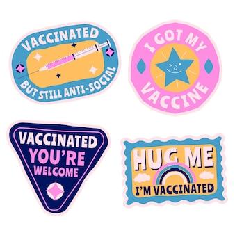 有機フラット予防接種キャンペーンバッジコレクション