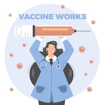 Illustrazione di campagna di vaccinazione piatta organica