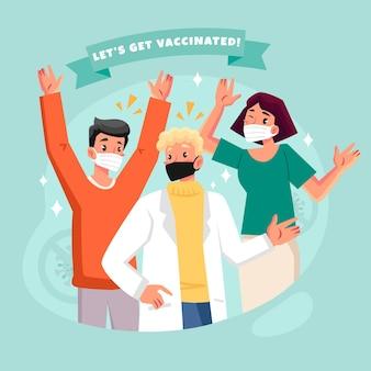 Иллюстрация кампании органической вакцинации