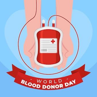 유기 평면 세계 헌혈의 날 그림