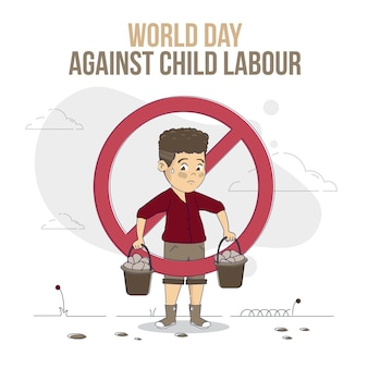 Органический плоский всемирный день борьбы с детским трудом