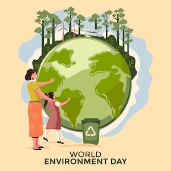 День окружающей среды органического плоского мира спасает планету