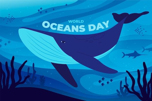 유기 평면 세계 바다의 날 그림