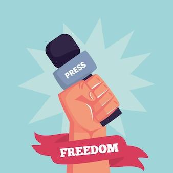 Illustrazione di giornata mondiale della libertà di stampa organica piatta