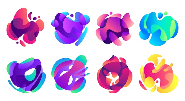 Organic fluid shapes.