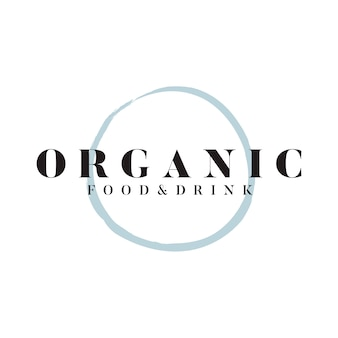 Organic food and drink logo vector
