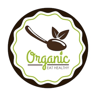 Organic food  concept with icon design