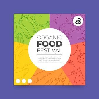Шаблон флаера для органических продуктов питания