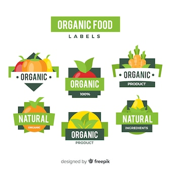 Organic food label collection