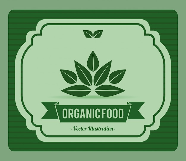 Organic food label illustration