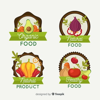 Organic food  label pack