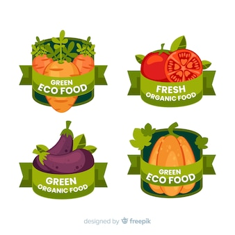 Organic food  label pack
