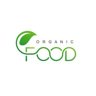 Organic food logo template