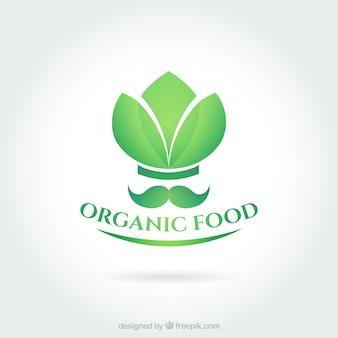 Organic food logo Premium Vector