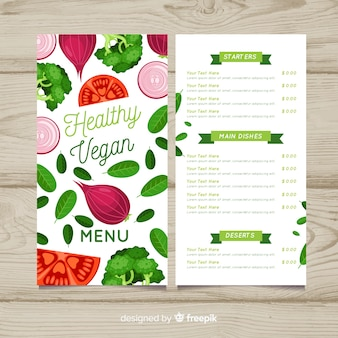Organic food menu template
