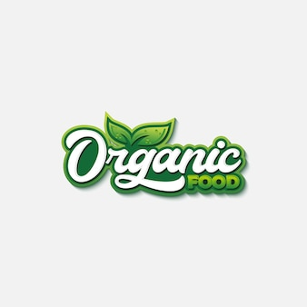 Organic food typography logo template