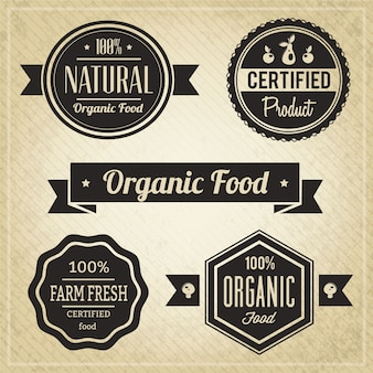 유기농 식품, 빈티지 라벨