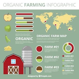 生態infographyとオーガニック食品