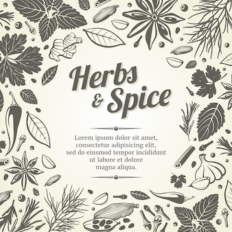 Organic and fresh spices template